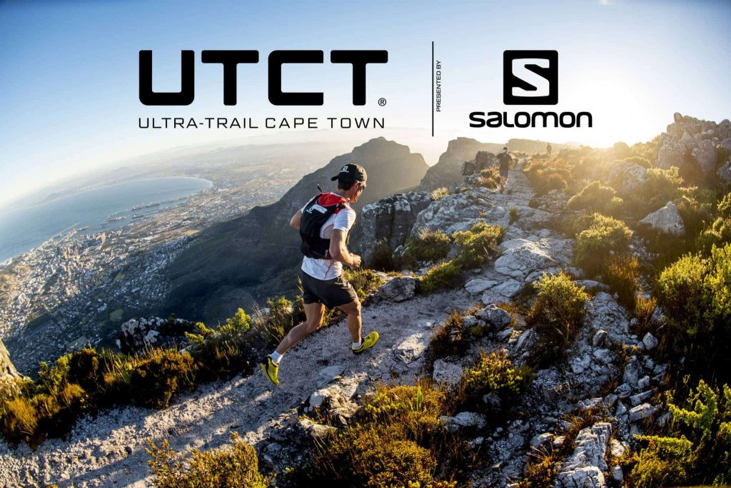 Man Runing the Ultra Trail Track in Cape Town