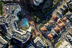 President Hotel Cape Town from the sky